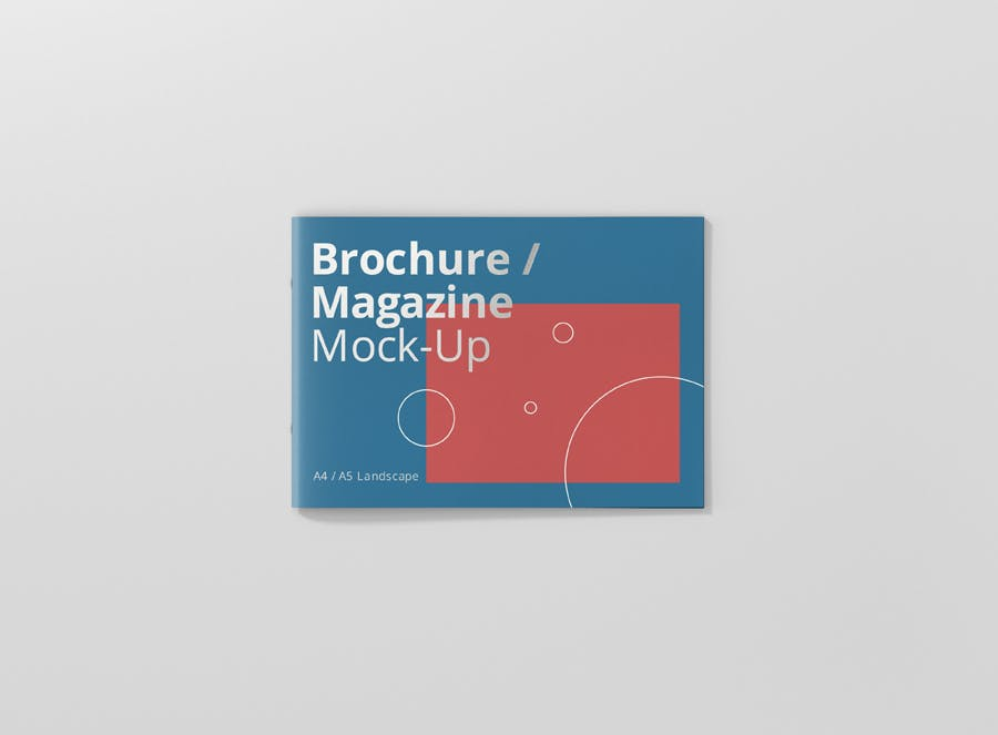 Preview image 11 for А4 Ландшафтная брошюра/Журнал Mock-Up