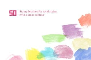 Thumbnail for Watercolor Brush Set #1