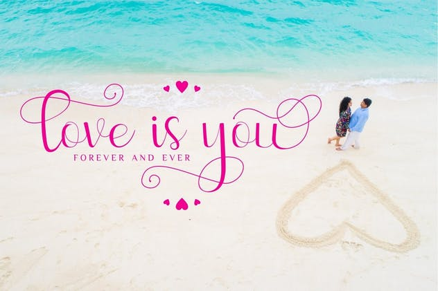Sweetyhearts - Modern Calligraphy Font - product preview 4