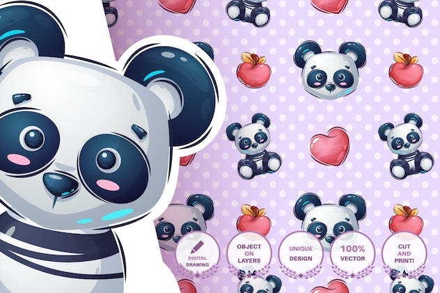 Teddy panda - product preview 2