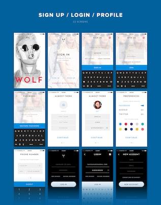 Thumbnail for V Avenue Mobile UI Kit