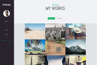 Thumbnail for Bonesa - Portfolio One Page Muse Template