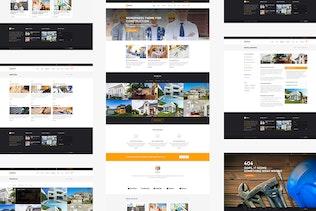 Thumbnail for Mature — Building & Construction PSD Template
