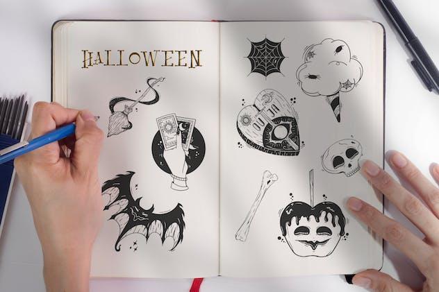 Halloween Illustration Stamp Brush Procreate Vol.2