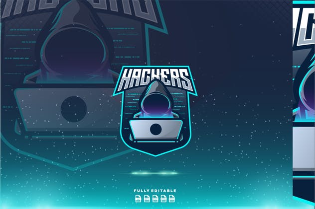 Hackers Anonymous  Esport Gaming Logo - product preview 1