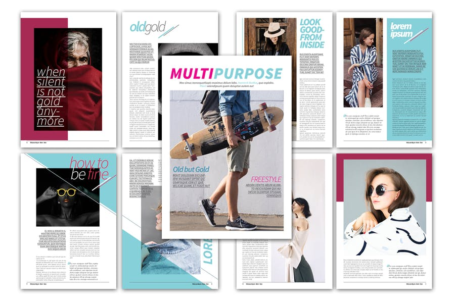 Multipurpose Magazine Template - product preview 3