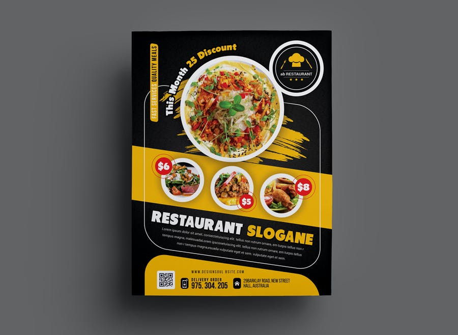Restaurant Flyer - product preview 1