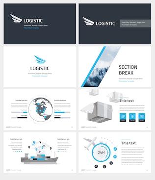 Thumbnail for Logistic Google Slides Template