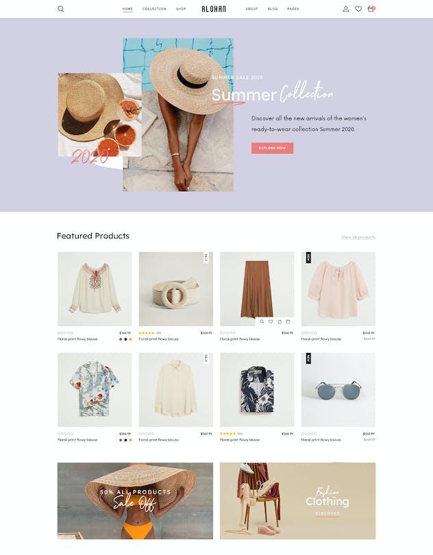 Alohan | Minimalist Fashion PSD Template - product preview 11