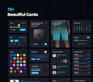 Thumbnail for Dark cards – User Interface kit
