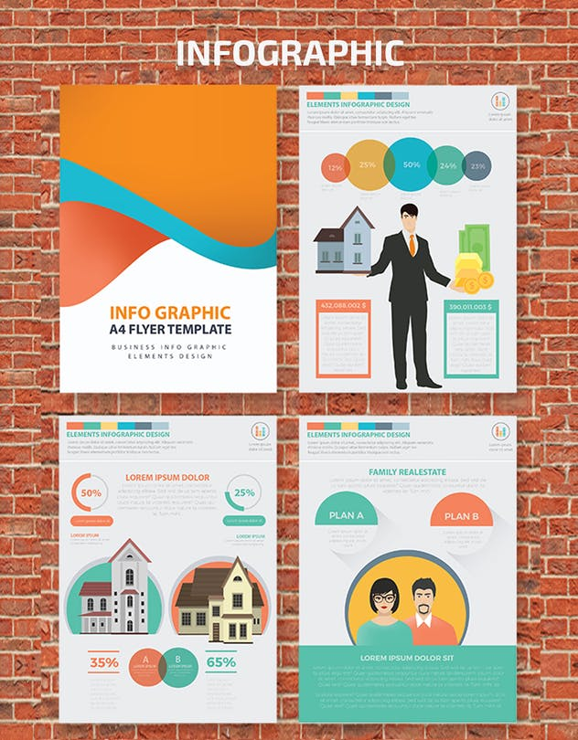 Real estate 2 infographic Design - product preview 4