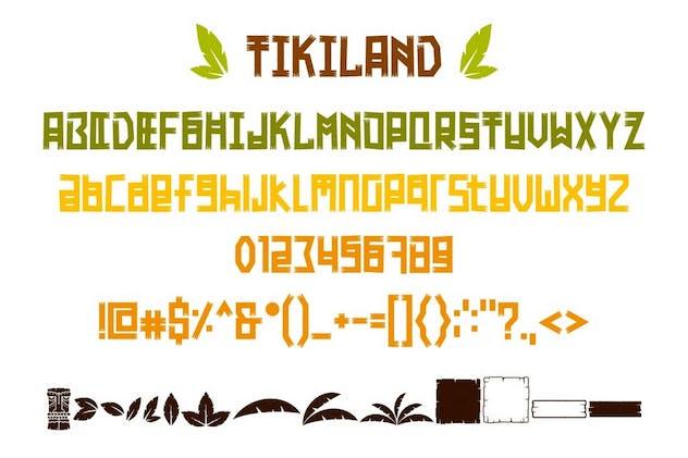 Tikiland - Fun Unique Display Font