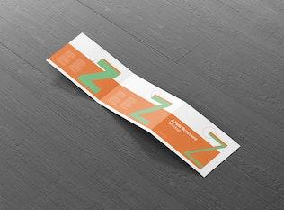 Z-Fold Brochure Mockup - Landscape Din A4 A5 A6