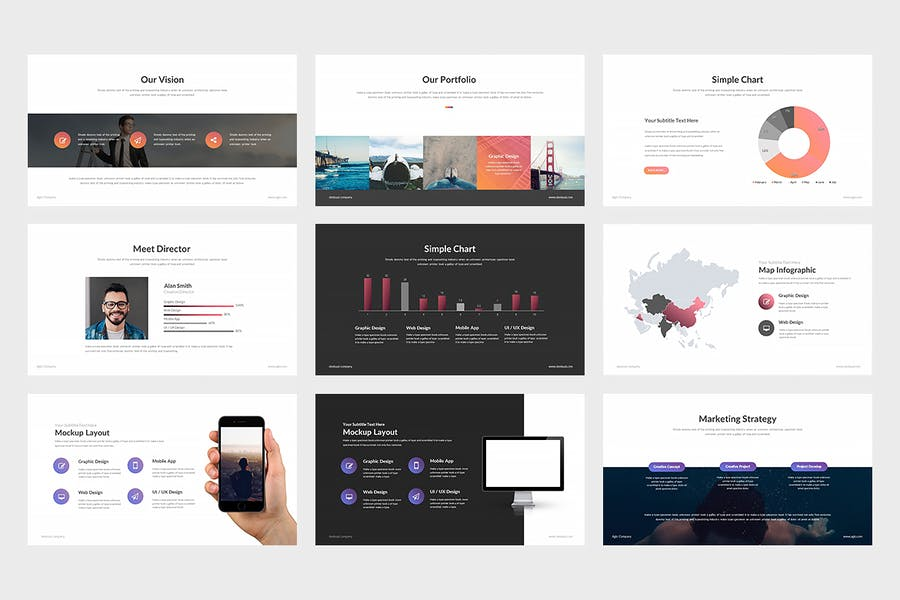 Agio : Powerpoint Presentation by punkl on Envato Elements