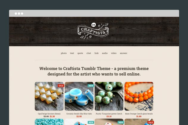 Craftista Tumblr Theme - product preview 0