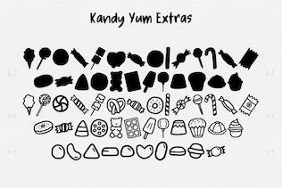 Thumbnail for Kandy Yum Font