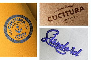 Thumbnail for Photo Realistic Fabric Logo Mockups