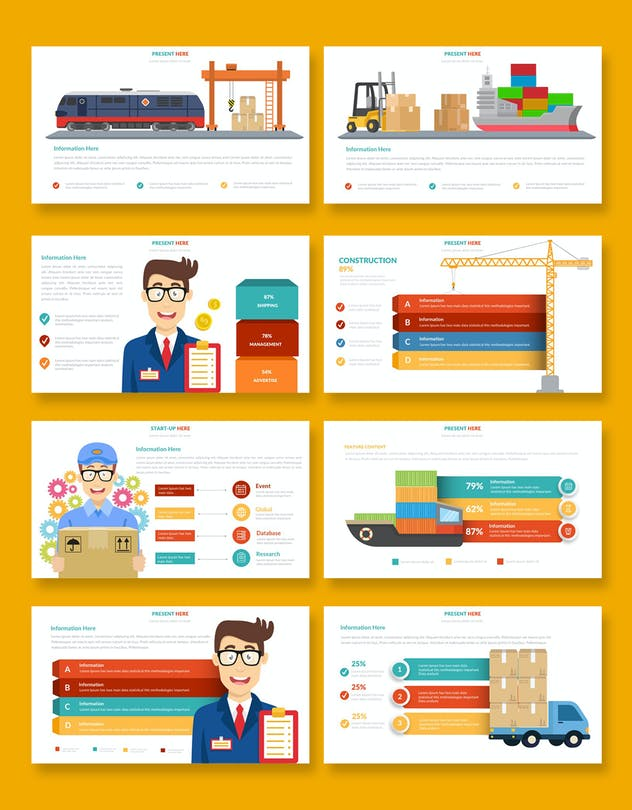 Logistic Infographic Powerpoint - product preview 3