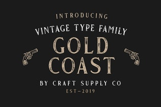 Thumbnail for Gold Coast - Vintage Serif Font Family