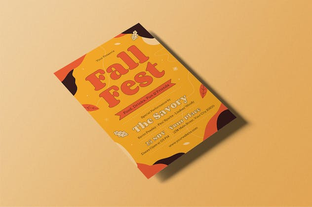 Fall Fest Flyer - product preview 3