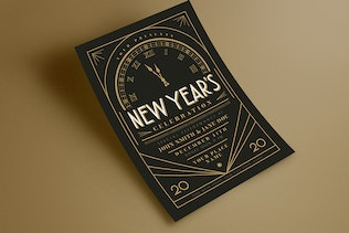 Art Deco New Year Event Flyer