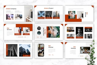 Thumbnail for ANTARA - Business Company Profile Google Slides