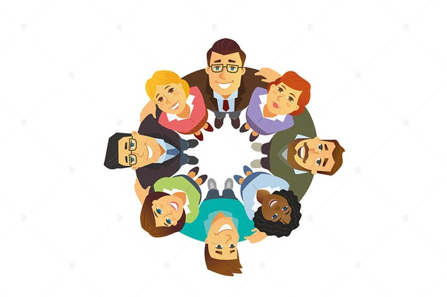 International business team - vector illustration
