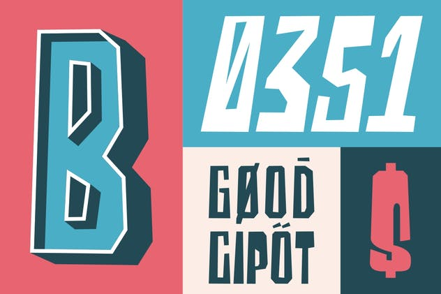 Blocky | Display Font - product preview 7