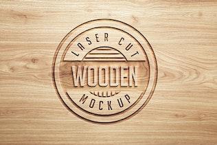 Thumbnail for Logo Mock Ups  Wood Style