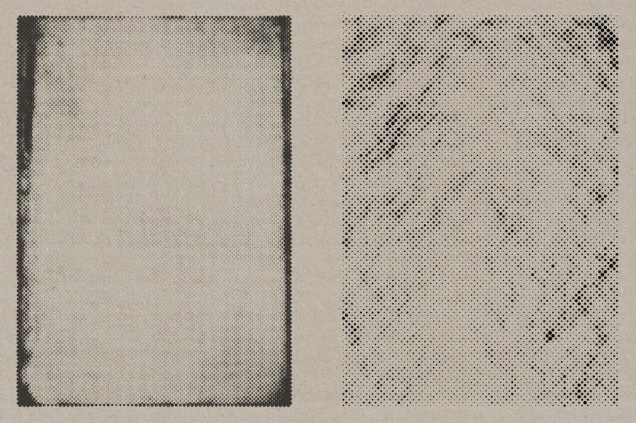 Halftone Vector Paper Textures - product preview 9