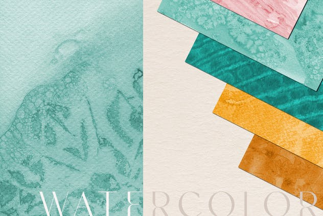 Watercolor Handmade Textures - product preview 2