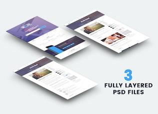 Thumbnail for BiZZEX - Professional App Landing Page
