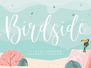 Миниатюра для Шрифт скрипта Birdside YH