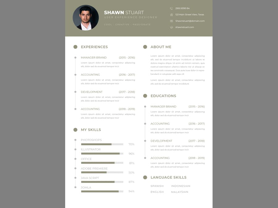 Business CV Resume - product preview 1