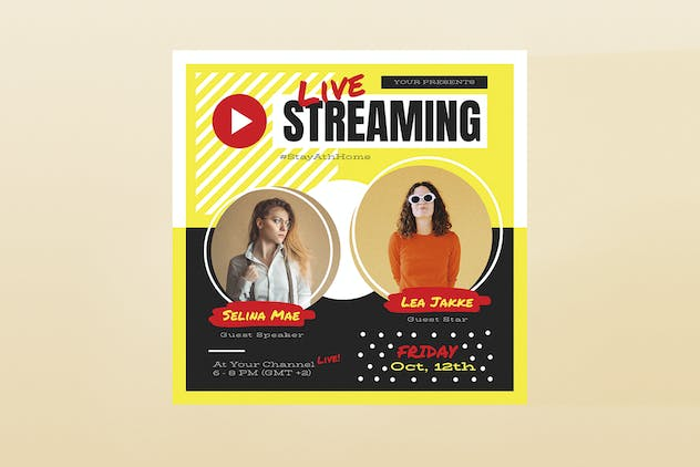 Live Streaming Template Set - product preview 1