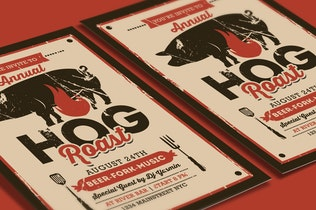 Thumbnail for Pig Roast Event Flyer