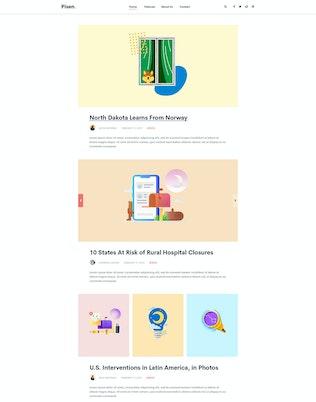 Thumbnail for Pisend | Minimalism Blog HTML5 Template