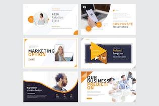 Thumbnail for CORPORATE BUSINESS  - Google Slide V381