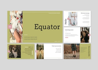 Thumbnail for Equator - Powerpoint/Google Slides/Keynote Templat