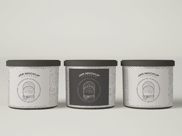 Ice Cream Jar Packaging Mockup