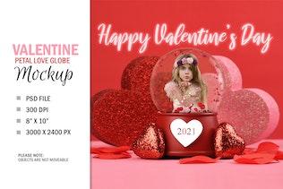 Valentine's Day Love Globe Digital Photo Gift
