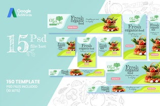 Thumbnail for 150 Web Ad Banners-Organic