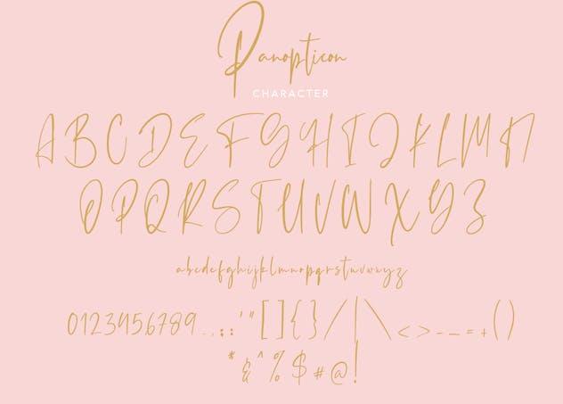 Panopticon Signature Font