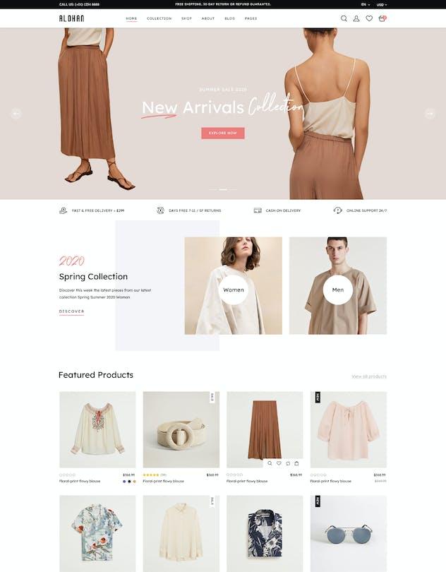 Alohan | Minimalist Fashion PSD Template - product preview 13