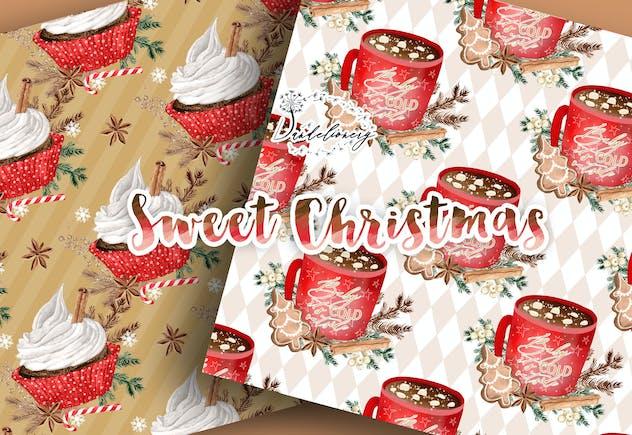 Sweet Christmas digital paper pack