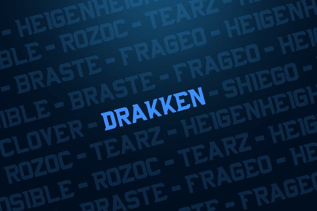 DRAKKEN EXCLUSIVE DISPLAY FONT - product preview 1