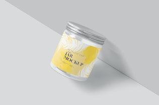 Metallic Cap Transparent Jar Mockups