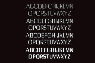 Thumbnail for Dayleen Sans Serif Font Family
