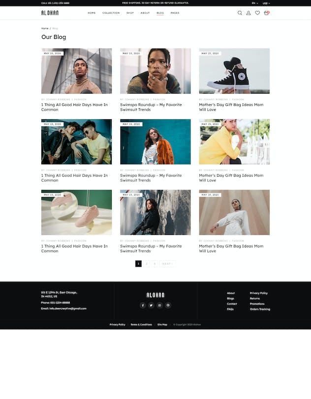 Alohan | Minimalist Fashion PSD Template - product preview 1