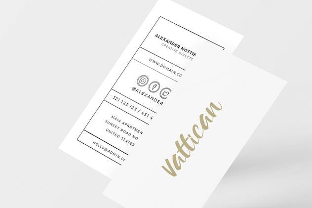 Vattican - Business Card Template